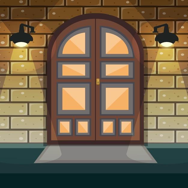 Porta d'ingresso casa Vettore gratuito