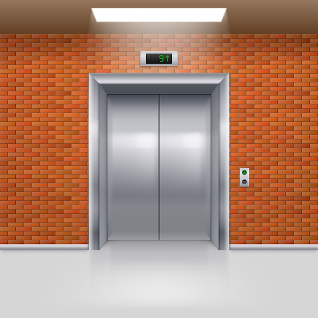 Porte dell'ascensore Vettore Premium