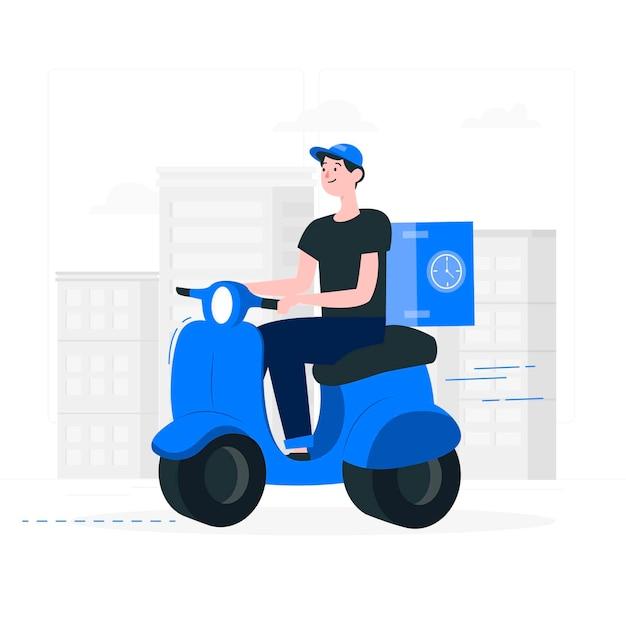 Porti via l'illustrazione di concetto Vettore gratuito