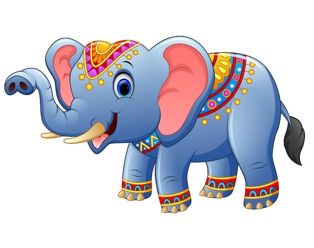 Posa di elefante simpatico cartone animato scaricare