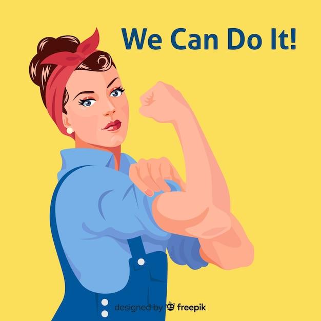 Possiamo farlo! sfondo Vettore gratuito