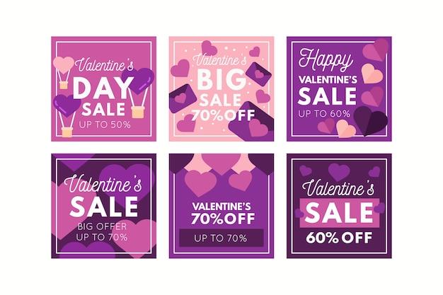 Posta del instagram di vendita di san valentino Vettore gratuito
