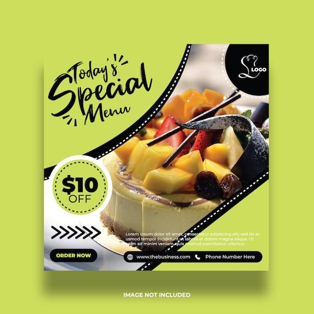Posta e amore sociali di media del menu variopinto dell'alimento del ristorante Vettore Premium