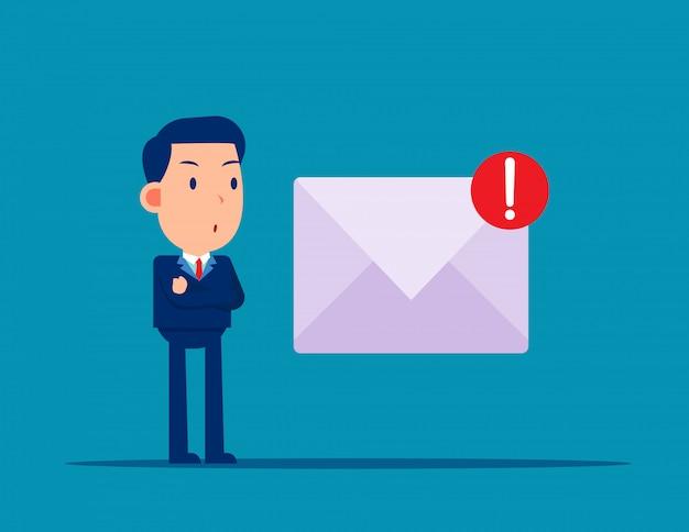 Posta spam e virus. pericolo online Vettore Premium