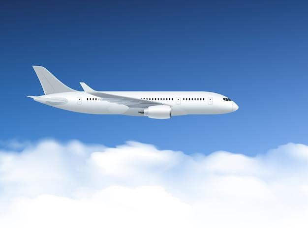 Poster airplane in air Vettore gratuito