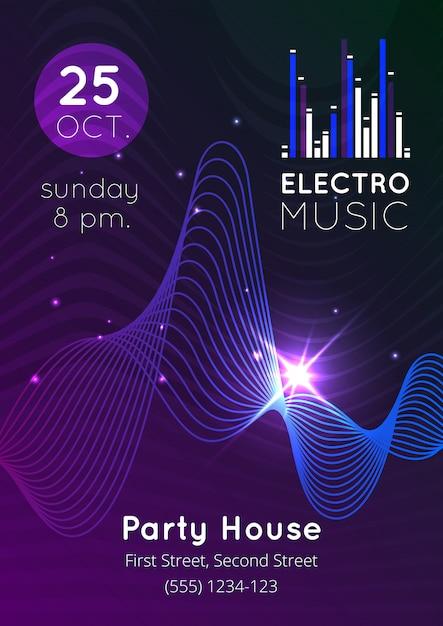 Poster audio equalizzatore musicale Vettore gratuito
