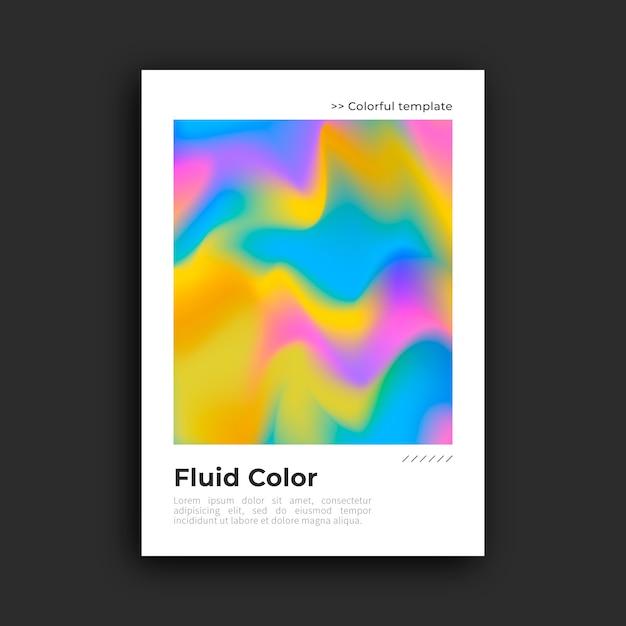 Poster colorato con effetto fluido Vettore gratuito