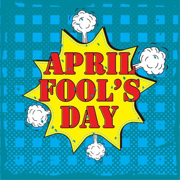 Poster del primo di aprile. Vettore Premium
