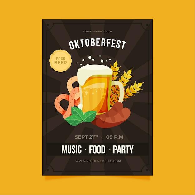 Poster dell'oktoberfest Vettore gratuito