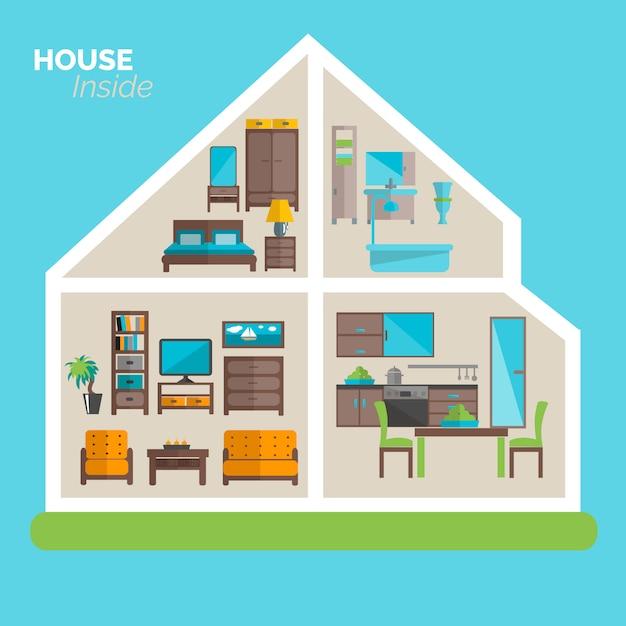 Poster di arredamento casa idee arredamento Vettore gratuito