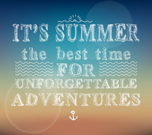 Poster di avventure estive Vettore gratuito