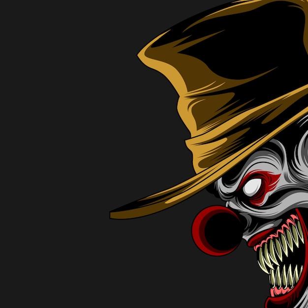 Poster di clown malvagio Vettore Premium