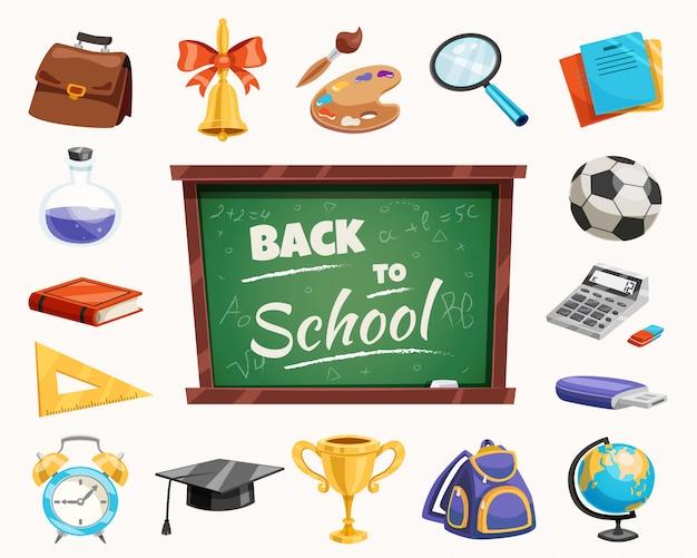 Poster di composizione scolastica Vettore gratuito