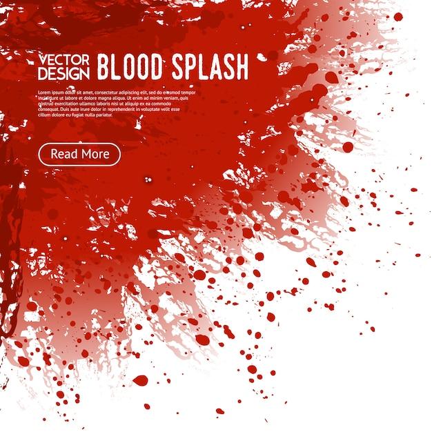 Poster di design di pagina web sfondo di sangue splash Vettore gratuito
