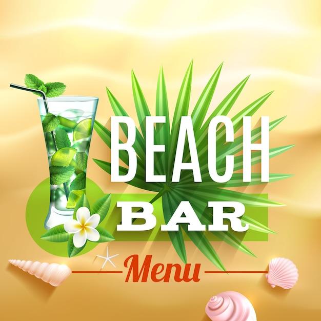 Poster di design tropicale Vettore gratuito