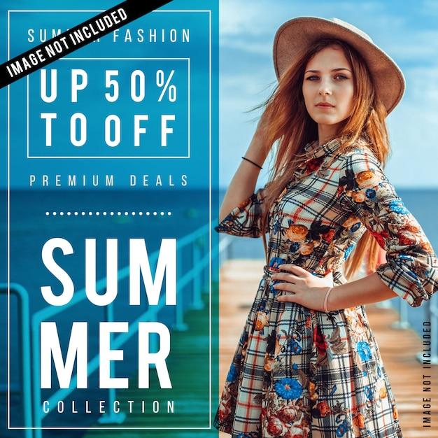 Poster di vendita di moda moderna Vettore Premium