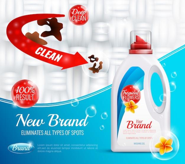 Poster di vestiti detergenti Vettore gratuito