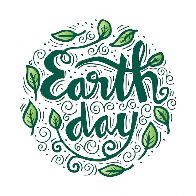 Poster earth day. illustrazione vettoriale con il giorno della terra Vettore Premium