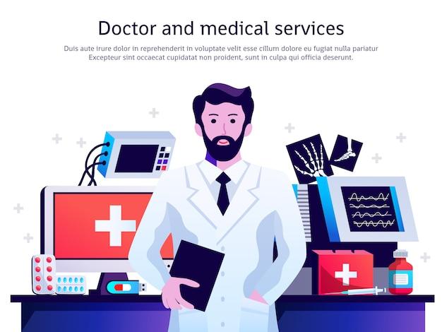 Poster medico servizio medico Vettore gratuito