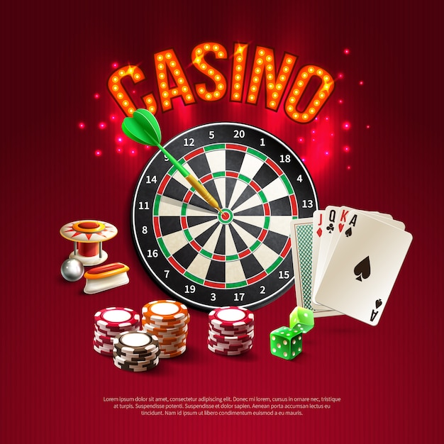 Poster realistico di giochi Vettore gratuito