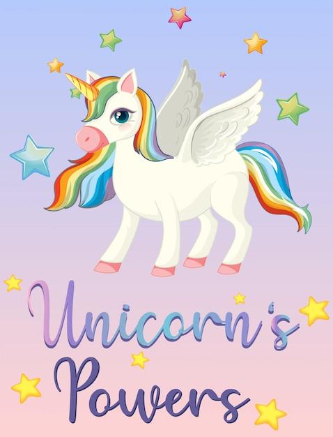 Potenza di unicorno sul cielo rosa Vettore gratuito