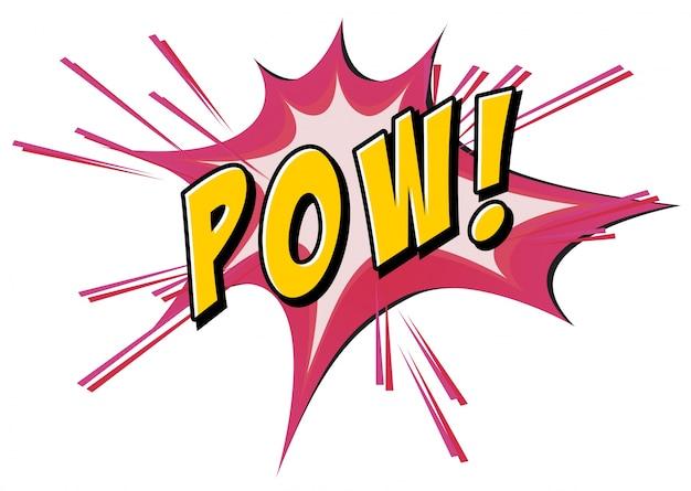 Pow flash su bianco Vettore gratuito