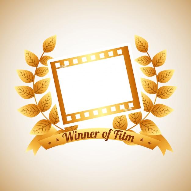 Premio cinematografico Vettore Premium