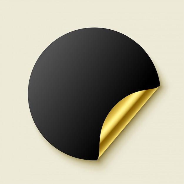 Premium adesivo dorato realistico vuoto Vettore gratuito
