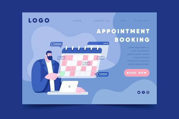 Prenotazione appuntamento - landing page Vettore gratuito