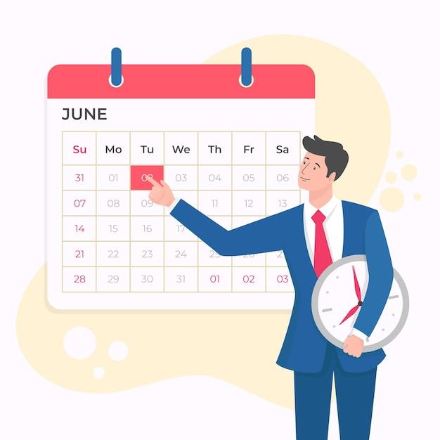 Prenotazione di appuntamenti e gestione del tempo Vettore gratuito
