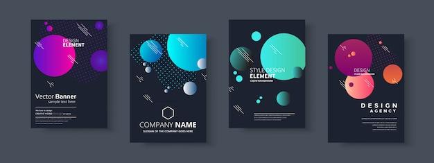 Presentazione aziendale, copertina di documenti aziendali e modelli di layout Vettore Premium