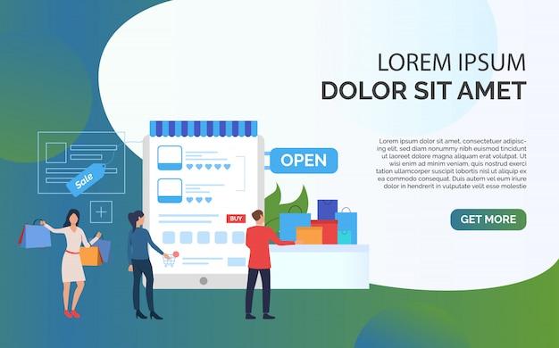 Presentazione del modello di presentazione di vendita Vettore gratuito