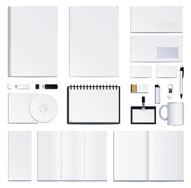 Presentazione dell'identità aziendale. illustrazione su sfondo bianco. Vettore Premium