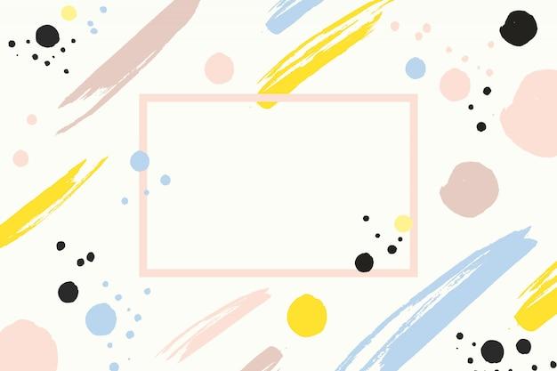 Presentazione di sfondo acquerello memphis Vettore gratuito