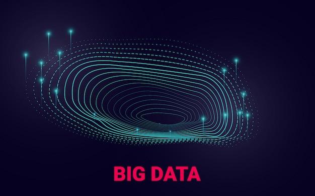 Presentazione visiva sull'analisi dei big data. Vettore Premium