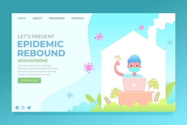 Prevenire la pagina di destinazione dell'estensione dell'epidemia Vettore gratuito