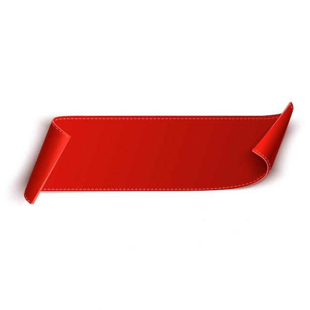 Prezzo da pagare, etichetta o distintivo in bianco rosso. banner a nastro per la pubblicità. vettore Vettore Premium