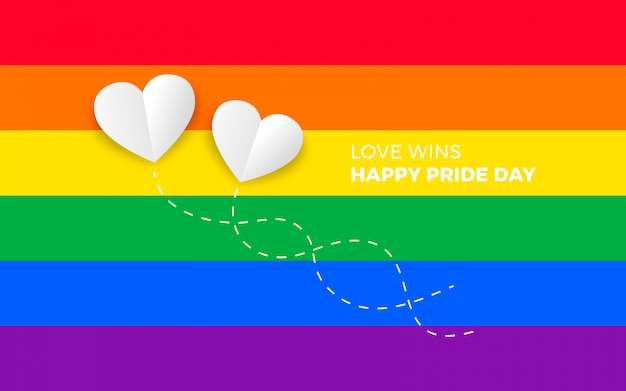 Pride day background Vettore gratuito