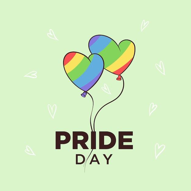 Pride day baloon design Vettore Premium