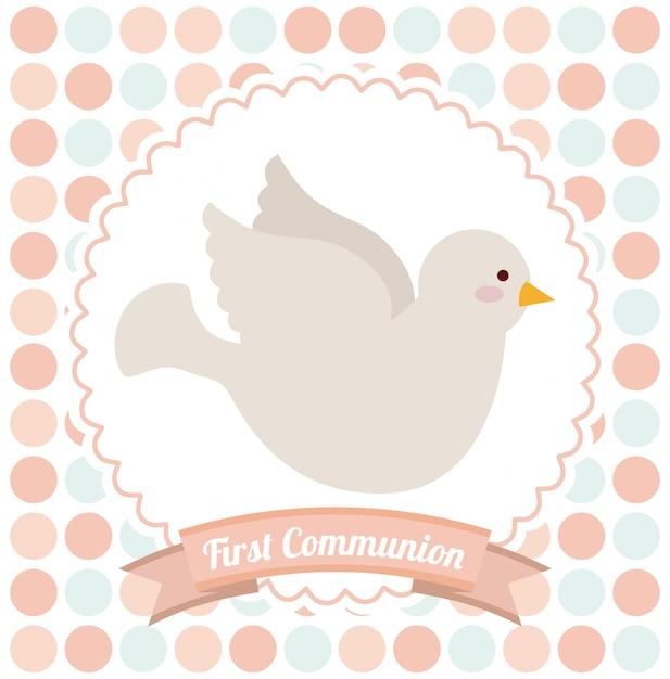 Prima comunione Vettore Premium