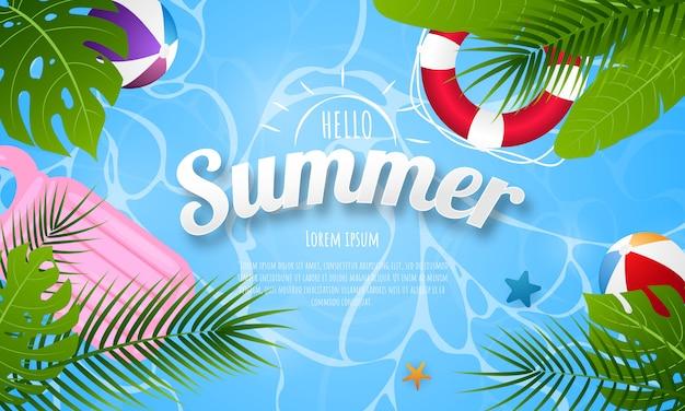 Primavera estate sfondo Vettore Premium
