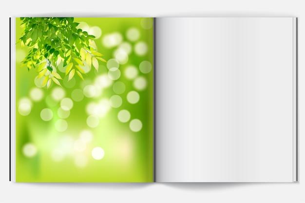 Primavera sullo sfondo del libro Vettore Premium