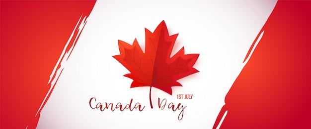 Primo luglio, giorno del canada. Vettore Premium