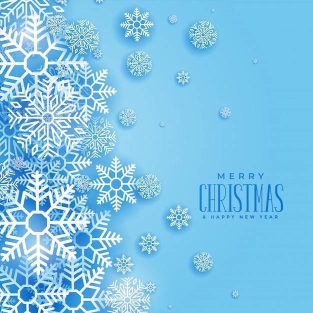 Priorità bassa adorabile dei fiocchi di neve di inverno di natale Vettore gratuito
