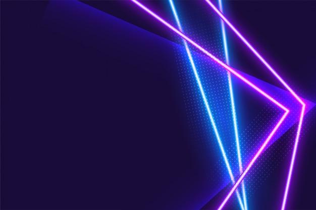 Priorità bassa al neon blu e viola geometrica astratta Vettore gratuito