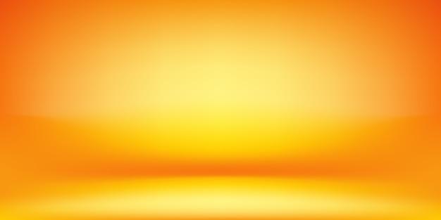 Priorità bassa arancione e gialla della stanza dello studio. Vettore Premium