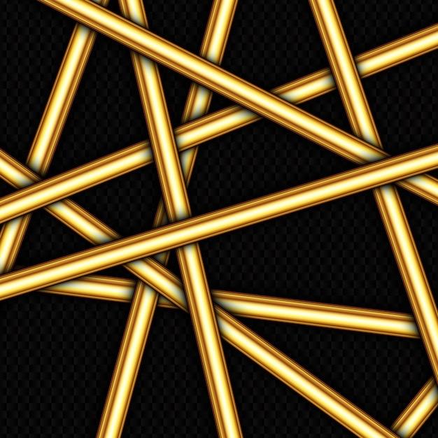 Priorità bassa astratta con il disegno casuale delle barre di oro Vettore gratuito