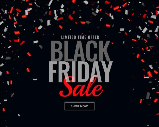 Priorità bassa astratta dei coriandoli di vendita di venerdì nero Vettore gratuito