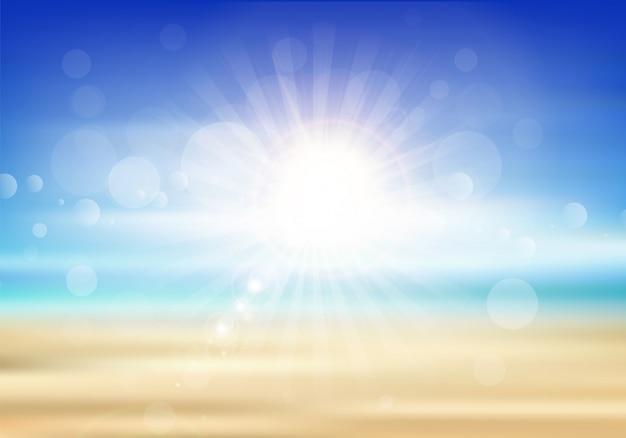 Priorità bassa astratta di estate con un tema della spiaggia Vettore gratuito