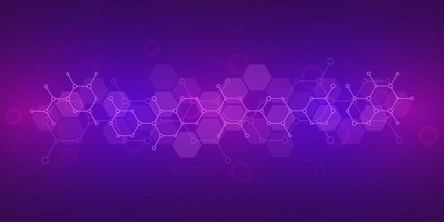 Priorità bassa astratta di scienza e tecnologia dell'innovazione. Vettore Premium